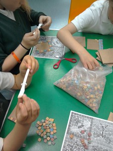 Today we are making mosaic coasters for Fathers day